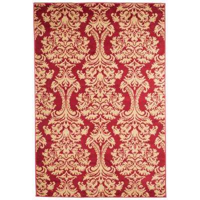 Oriental Red 8 ft. x 10 ft. Area Rug