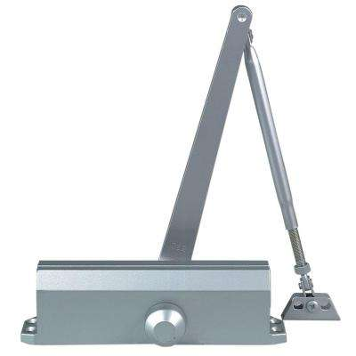 Commercial Door Closer in Aluminum with Adjustable Spring Tension - Sizes 2-5