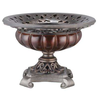 Brown Woodstone Polyresin Decorative Bowl