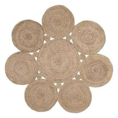 Drusilla Natural 4 ft. x 4 ft. Round Area Rug