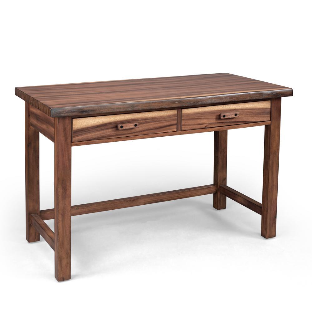 Forest Retreat 48 in. Brown Teak Wood Student Desk