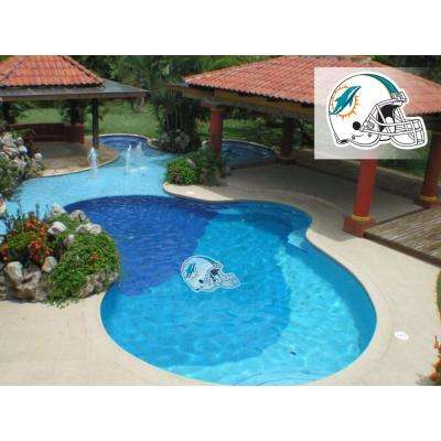NFL Miami Dolphins 29 in. x 29 in. Small Pool Graphic