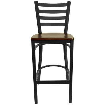 29 in. Black and Brown Bar Stool
