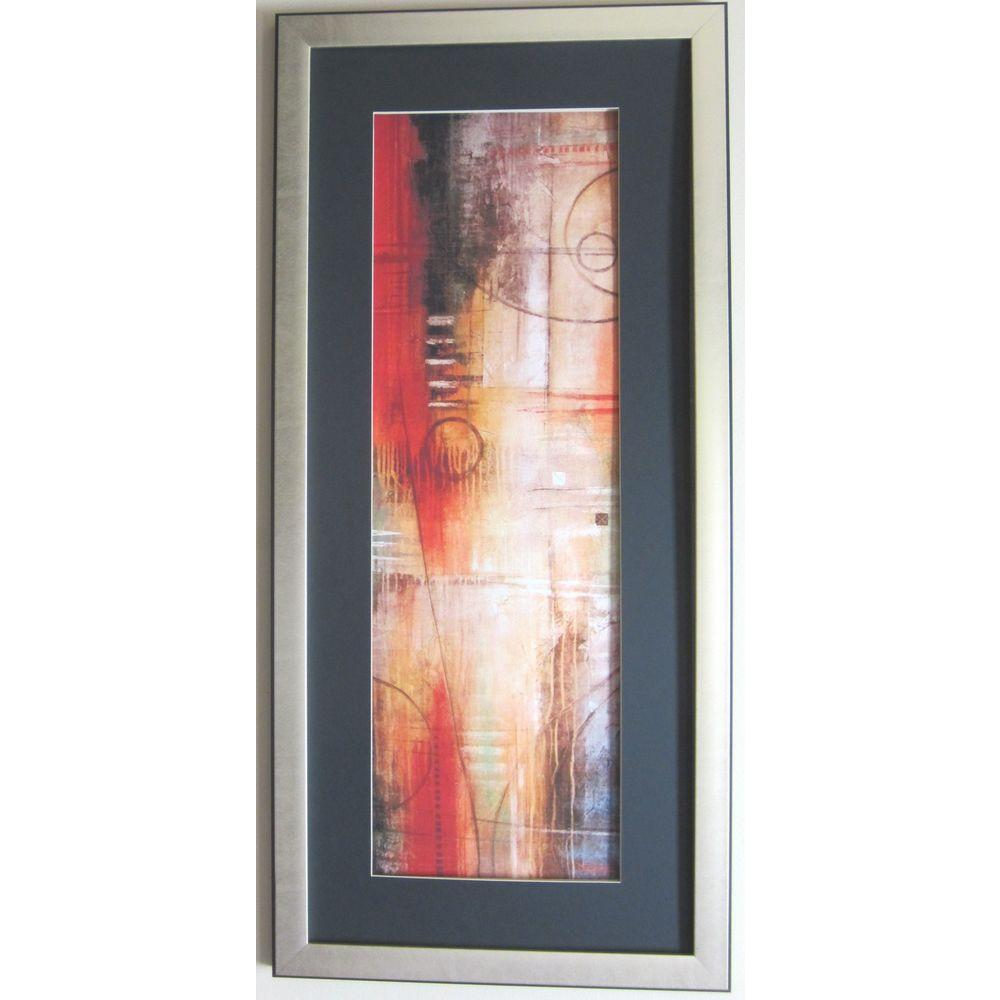 null 20 in. x 43 in. Abstract VI Art by David Linanetz Framed Wall Art