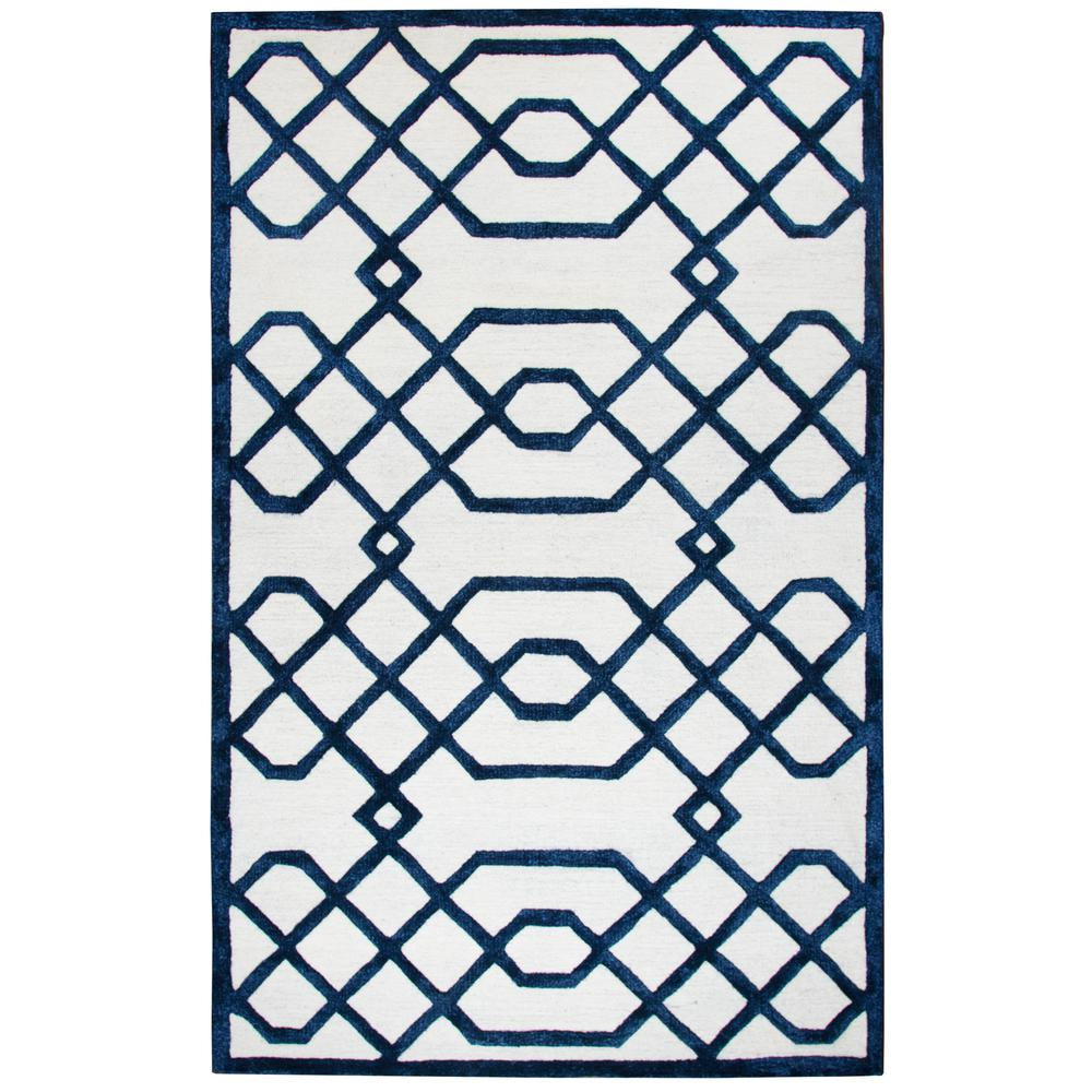 Rizzy Home Dimensions Ivory 5 Ft X 8 Ft Area Rug
