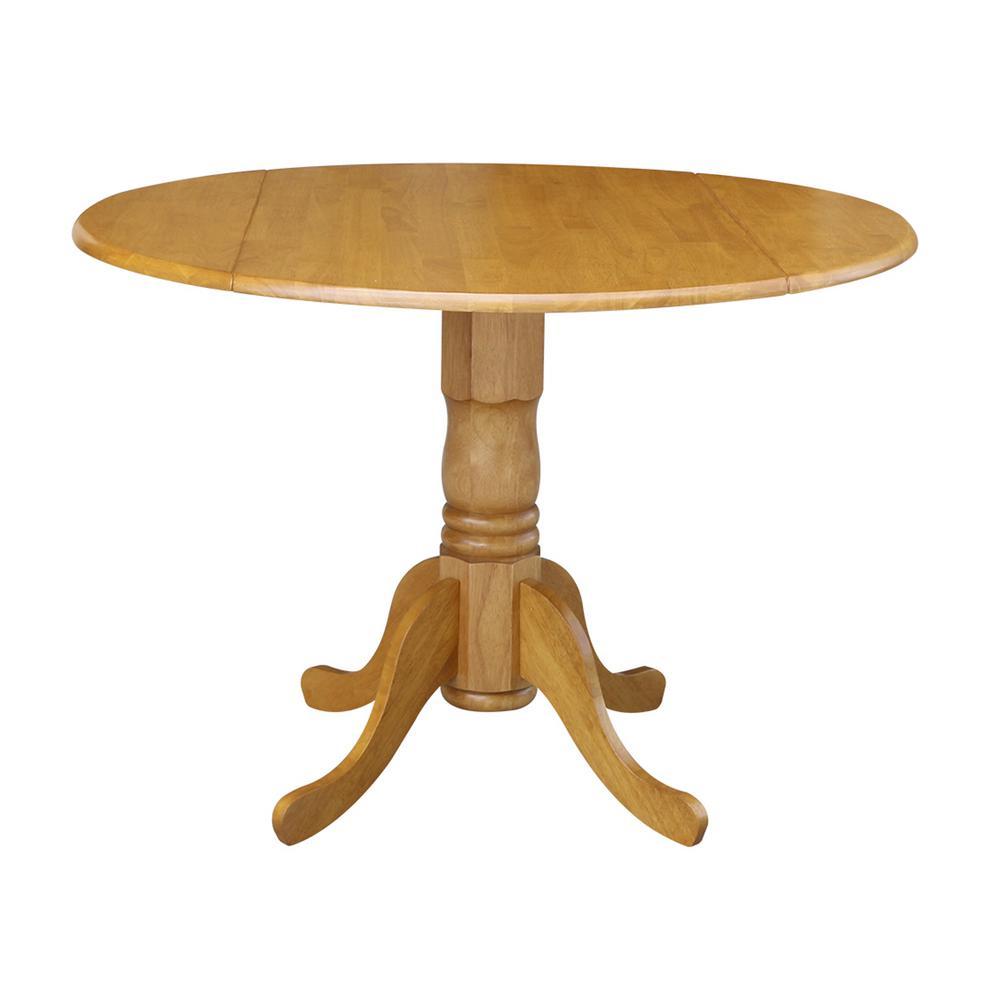 Oak Solid Wood Dropleaf Dining Table
