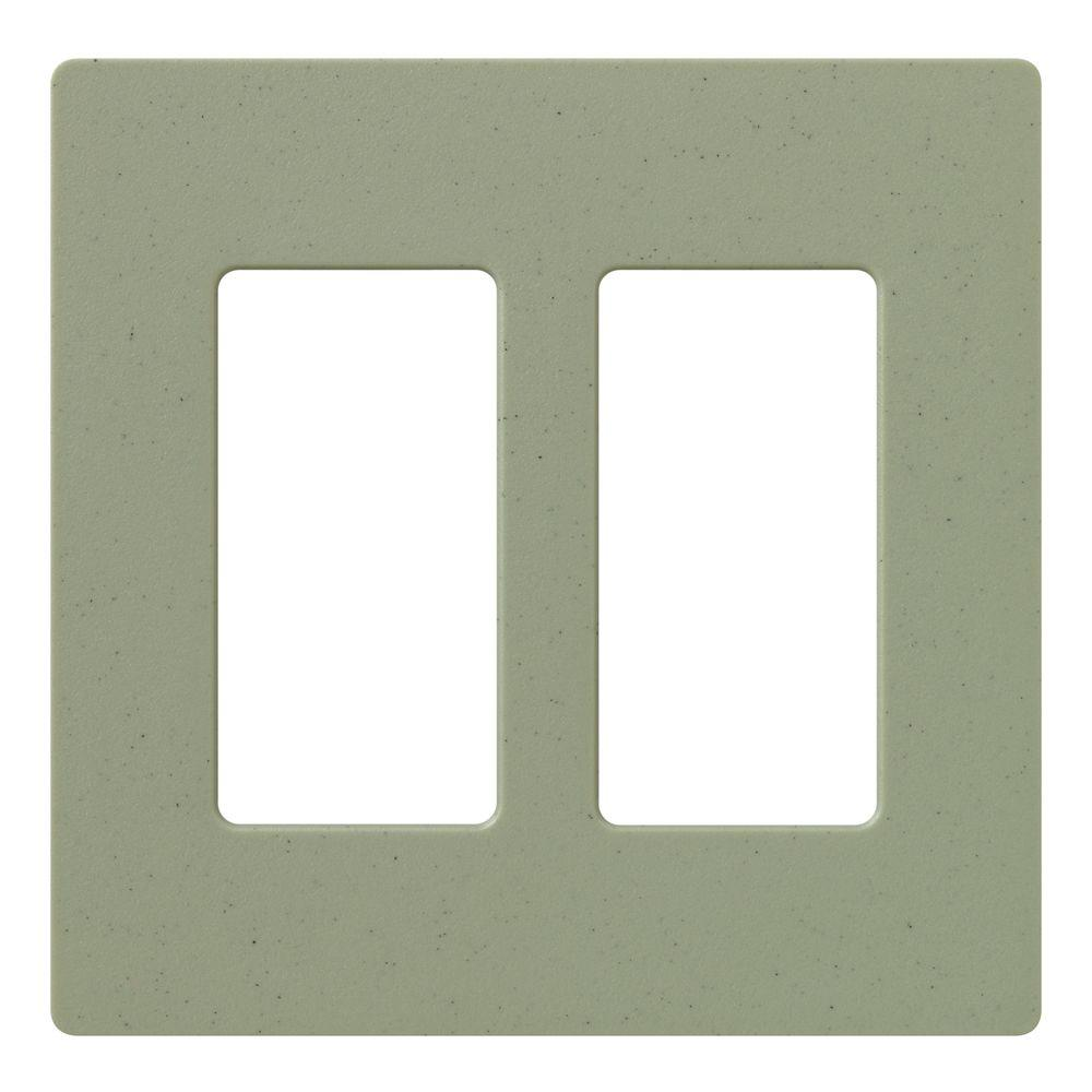 Lutron Claro 2 Gang Decorator Wallplate, Greenbriar
