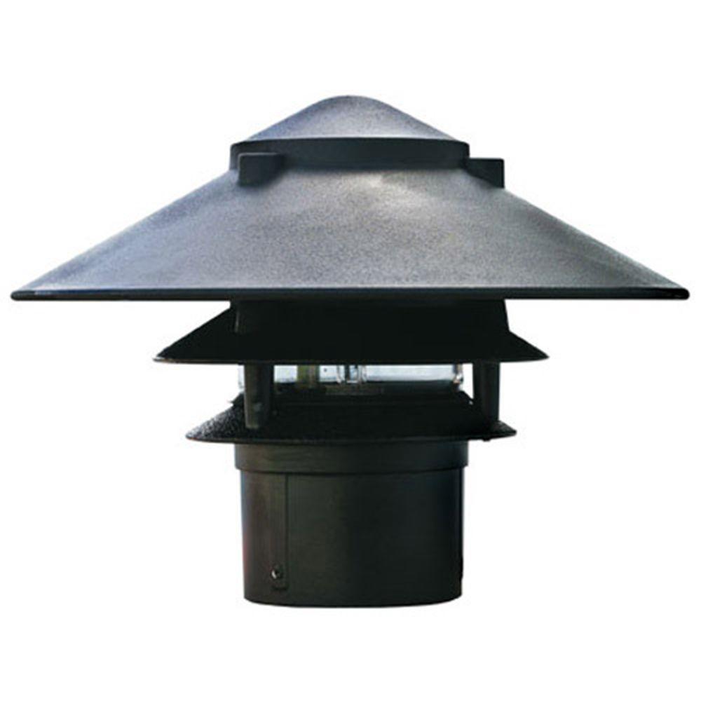 Corbin 1-Light Black 3-Tier Outdoor Pagoda Pathway Light