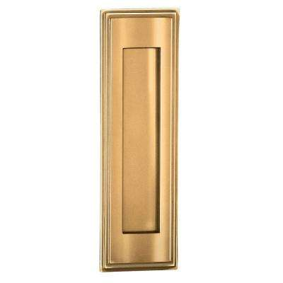 4000 Series 3.5 in. W x 11 in. H x 0.75 in. D Vertical Mail Slot in Brass Finish