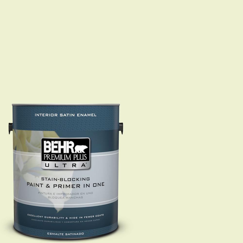 BEHR Premium Plus Ultra 1-gal. #420A-1 Green Shimmer Satin Enamel Interior Paint
