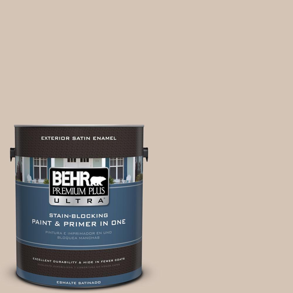 BEHR Premium Plus Ultra 1-gal. #BIC-02 Hazy Taupe Satin Enamel Exterior Paint