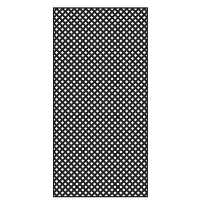 4 ft. x 8 ft. Black Privacy Diamond Vinyl Lattice - Framed