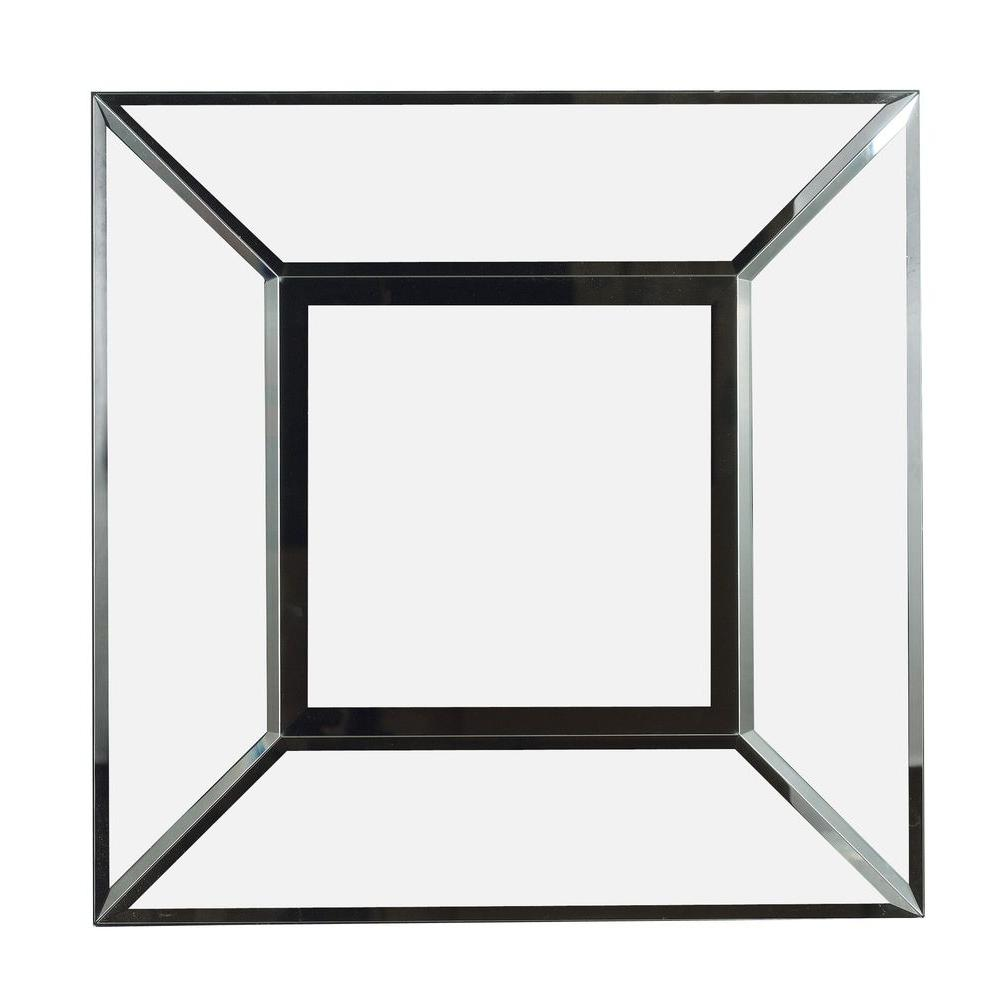 Home Decorators Collection Cubic 30 Sq. In. Wood Framed Mirror