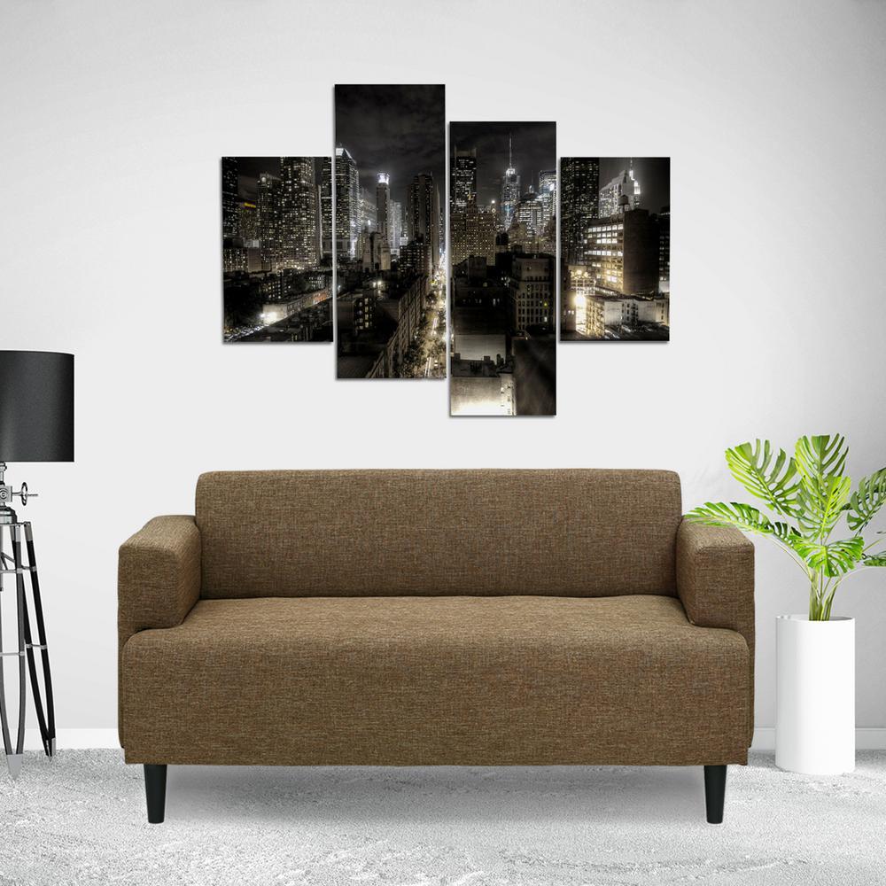 Simply Home Modern Brown Fabric Sofa