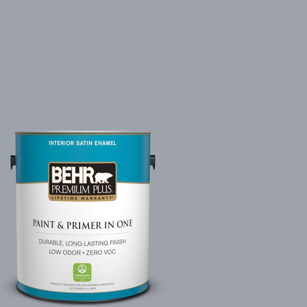 BEHR Premium Plus 1-gal. #N510-4 Supernova Satin Enamel Interior Paint