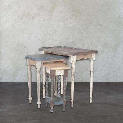 Artifacts Multicolor 3-Piece Nesting End Table