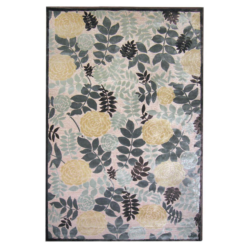 Lanart Moon Lily Win.ter 5 ft. x 7 ft. 6 in. Area Rug