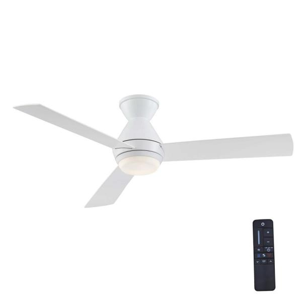 Emery 56 in. LED Glossy White Ceiling Fan with Remote Control