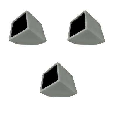 Cube 3-1/2 in. x 4 in. Light Gray Ceramic Wall Planter (3-Piece)