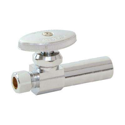 1/2 in. Nominal Sweat x 3/8 in. Compression Brass Straight Stop Valve with 5 in. Extension Tube
