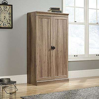 Barrister Lane Salt Oak Storage Cabinet with Frame Panel Doors
