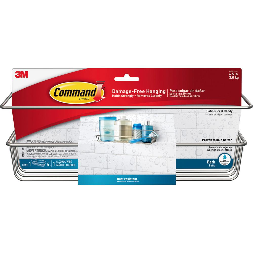 Command Satin Nickel Shower Caddy 1 Shower Caddy 4 Adhesive Strips