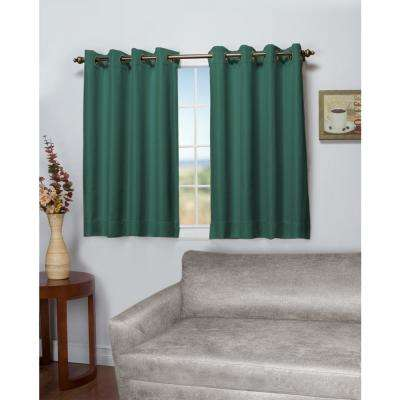 Tacoma 50 in. W x 54 in. L Polyester Double Blackout Grommet Window Panel in Woodland Green