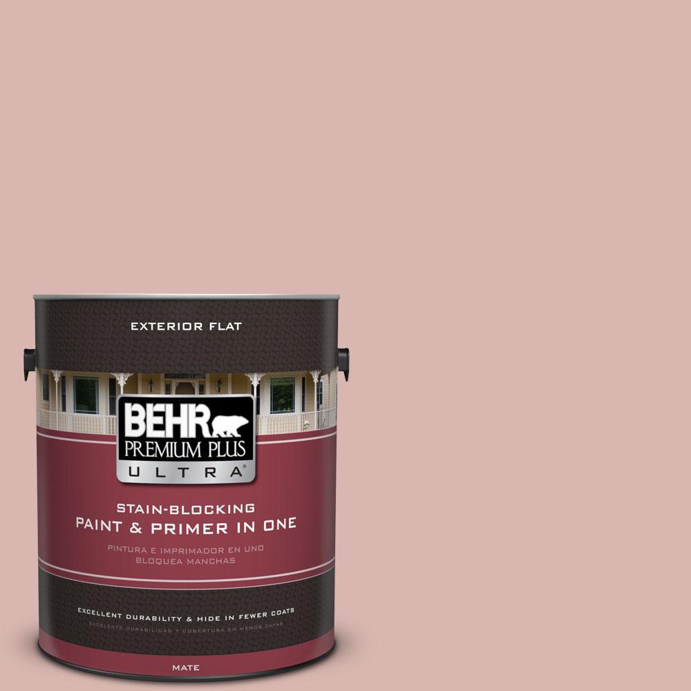 BEHR Premium Plus Ultra 1-gal. #170E-3 Bridal Rose Flat Exterior Paint
