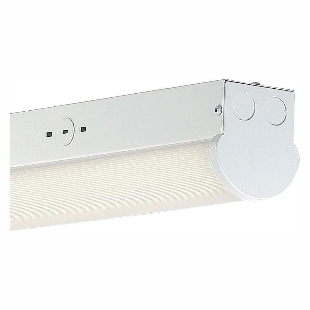 48-Watt 4 ft. White Integrated LED MV 5000 Lumen Surface Mount Strip Light