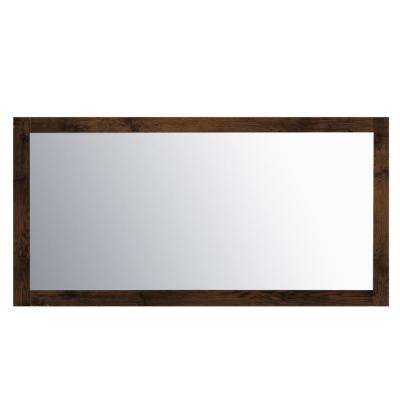 Sun 61.14 in. W x 31.61 in. H Framed Wall Mounted Vanity Bathroom Mirror in Rosewood