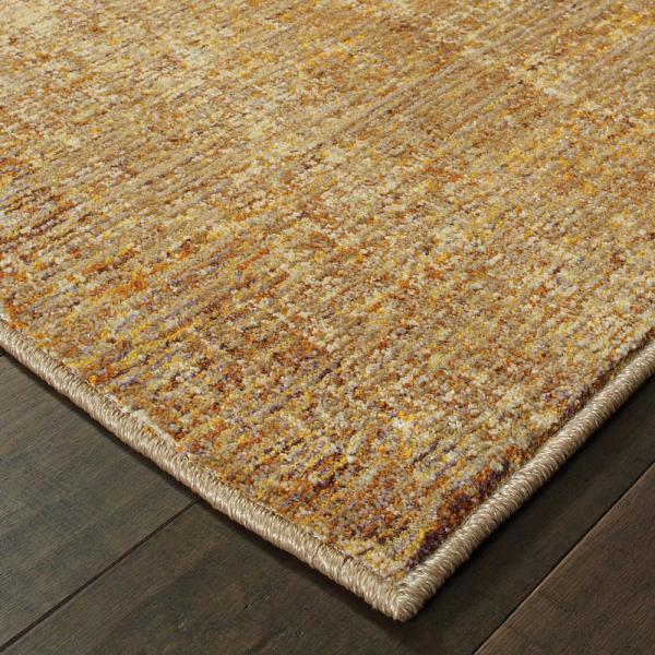 Gold Yellow 8 Ft X 10 Area Rug