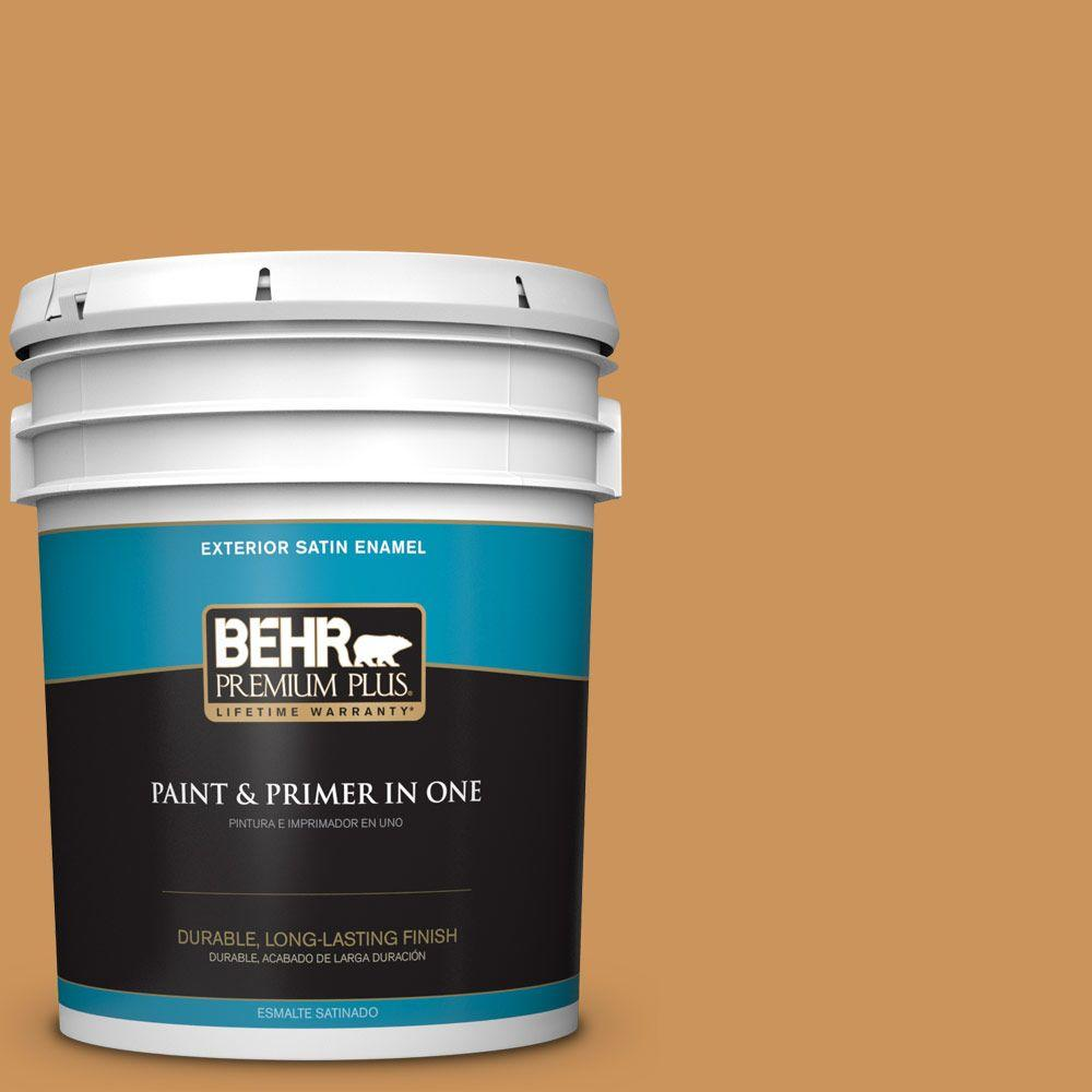 BEHR Premium Plus 5-gal. #M250-5 Burnt Pumpkin Satin Enamel Exterior Paint