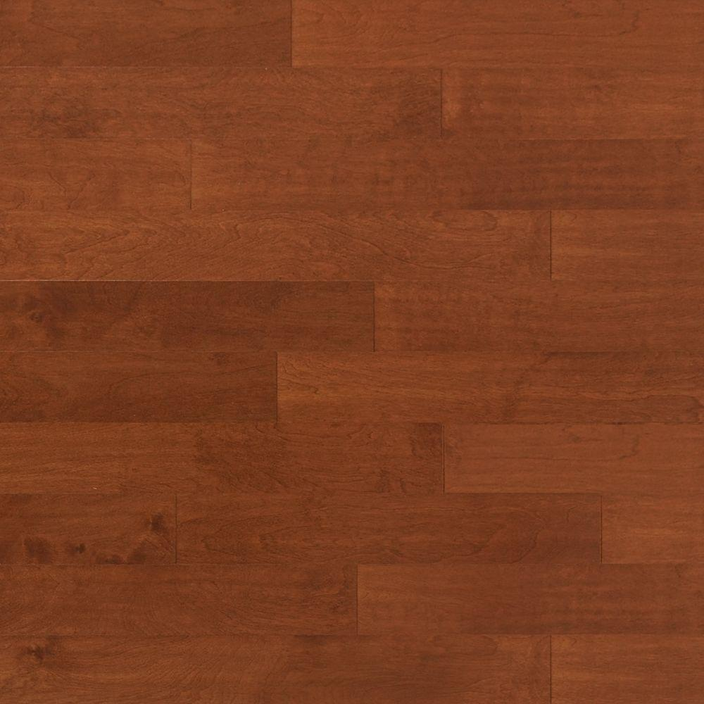 Heritage Mill Take Home Sample Scraped Birch Sunset Engineered Click Hardwood Flooring 5 In. X 7 In.