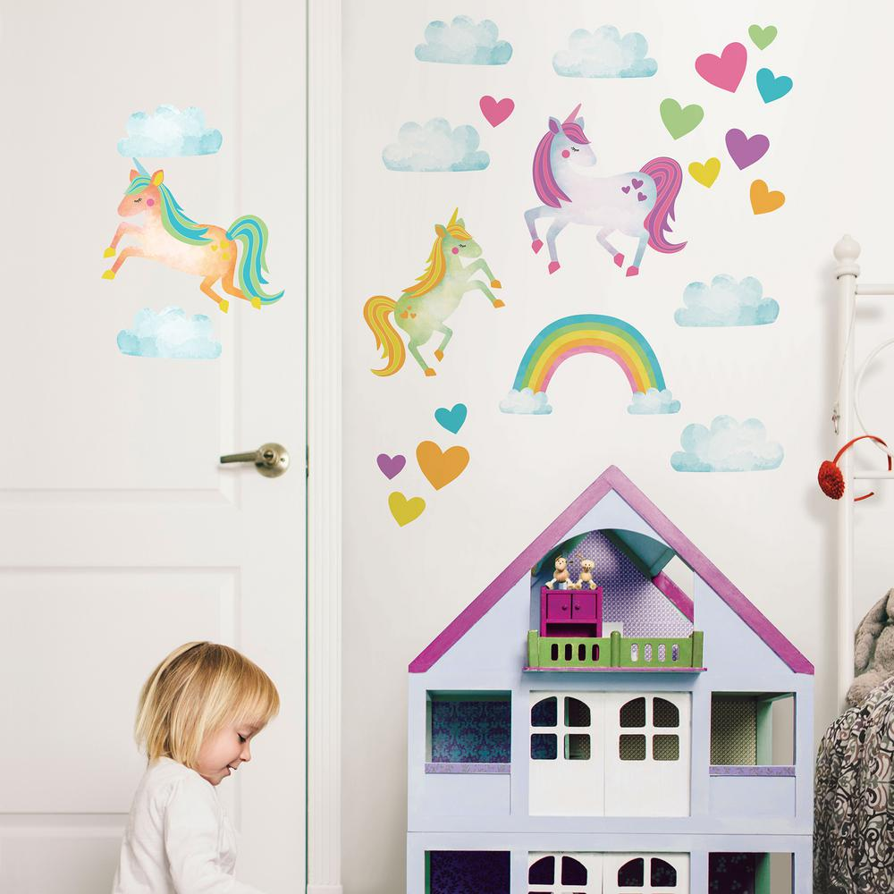 WallPops Wall Pops Multi-Color One Love Unicorns Wall Decal