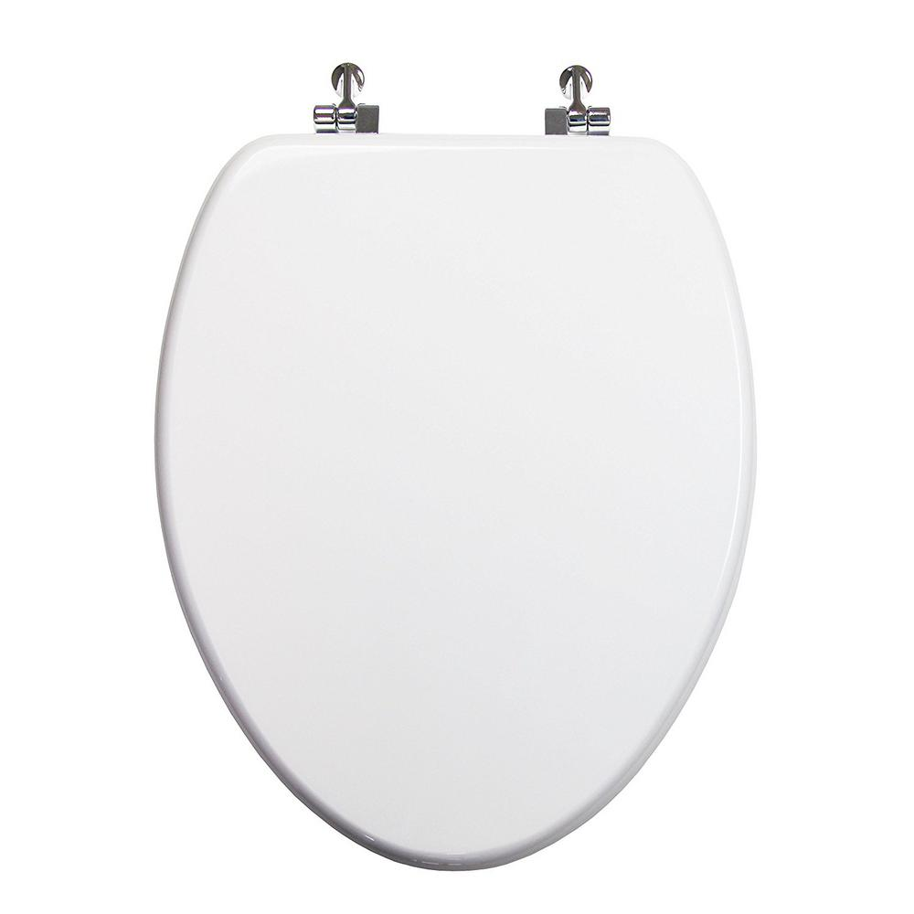 Terrific Topseat Uni Color Elongated Closed Front Toilet Seat In White Short Links Chair Design For Home Short Linksinfo