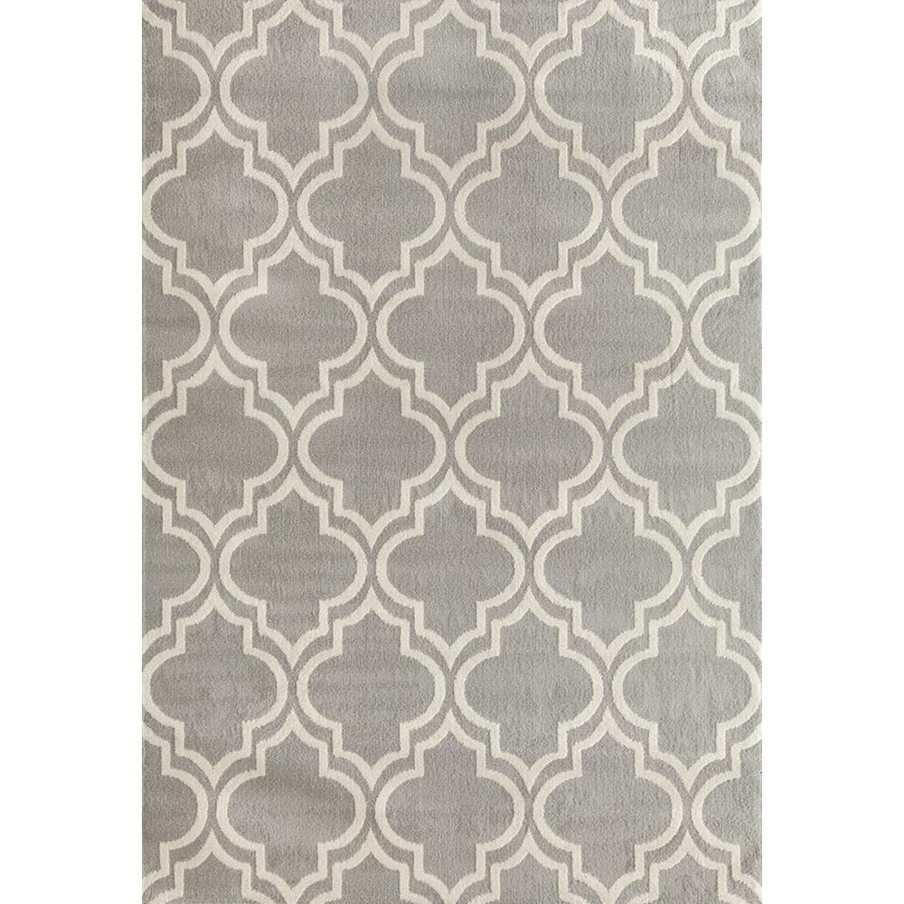 World Rug Gallery Modern Moroccan Trellis Gray 5 Ft. X 7