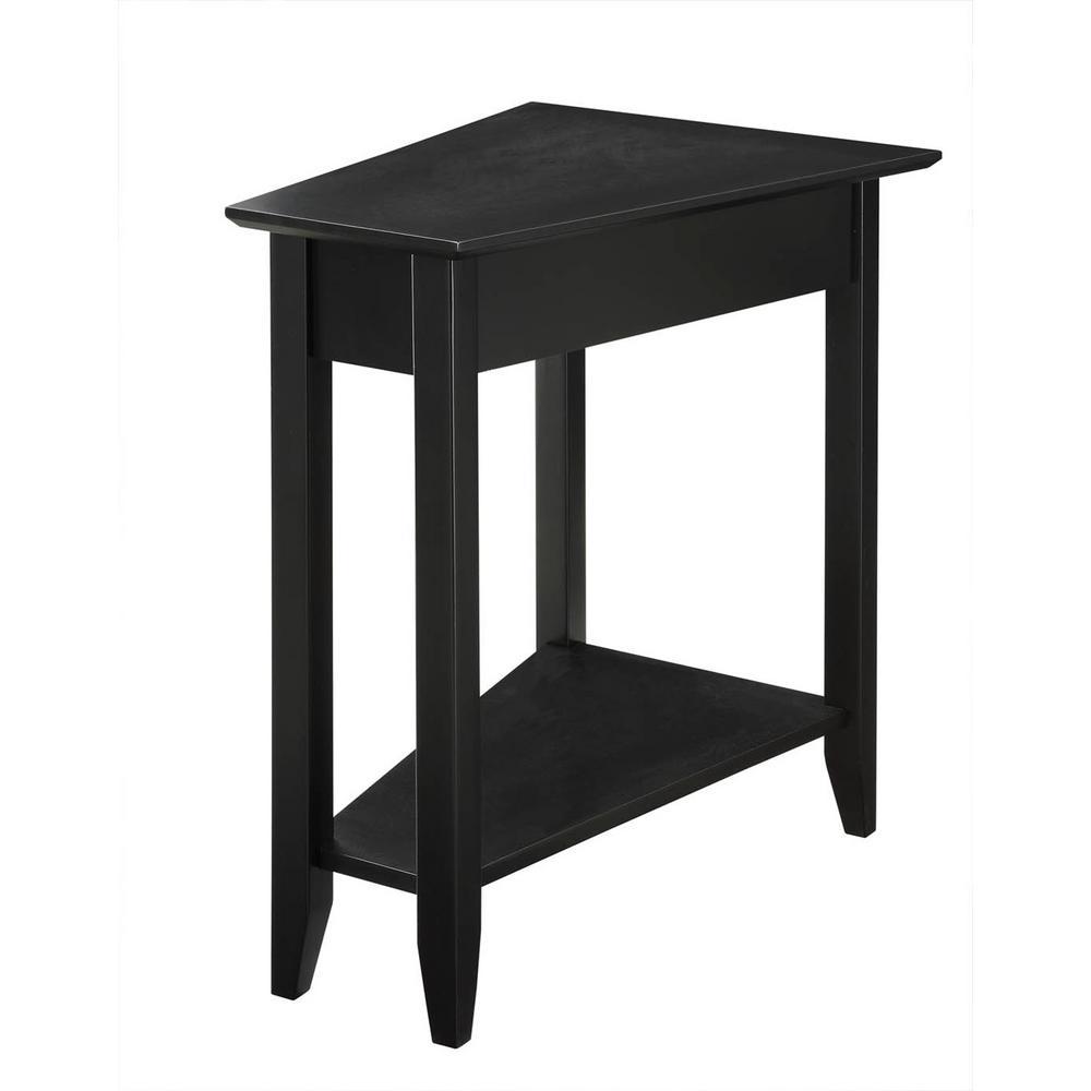 American Heritage Black Wedge End Table