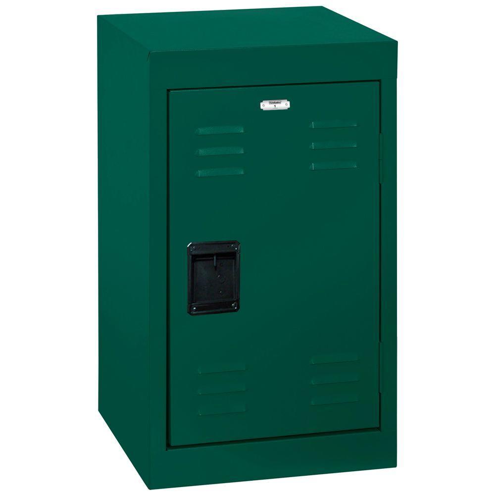 24 in. H Single-Tier Welded Steel Storage Locker in Forest Green