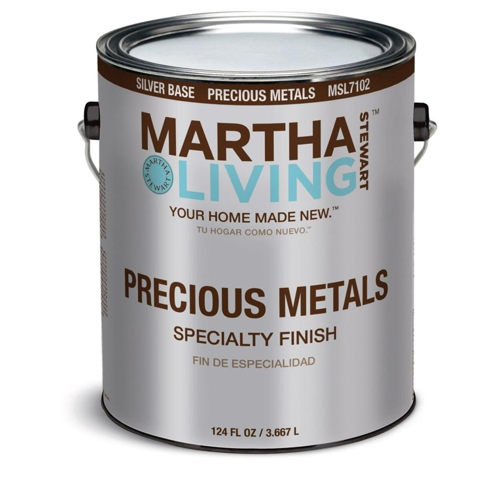 Lovely Martha Stewart Living 1 Gal. Silver Semi Gloss Precious Metals Specialty  Finish