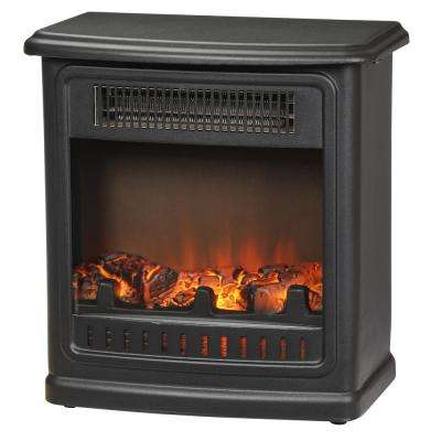 Crestland 13 in. Desktop Electric Fireplace in Black
