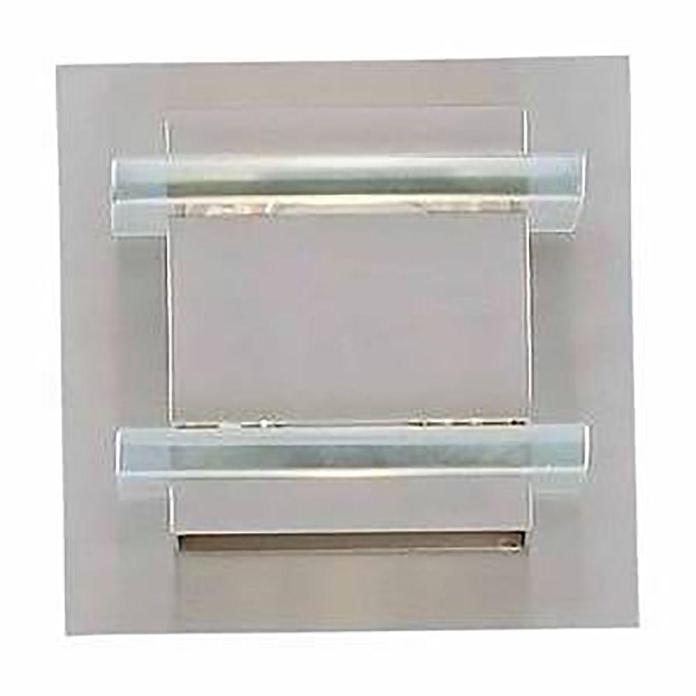 Filament Design Ekua 1-Light Brushed Steel Bath Vanity Light