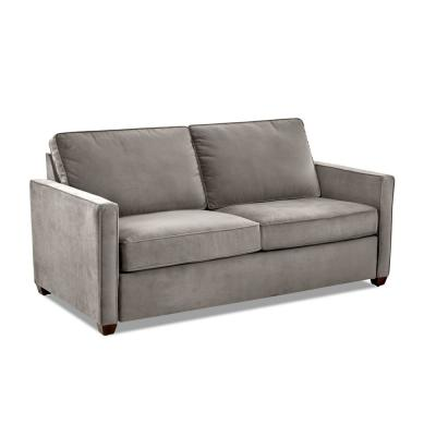 Miranda 78 in. Otter Fabric 2-Seater Full Sleeper Sofa Bed with Square Arms