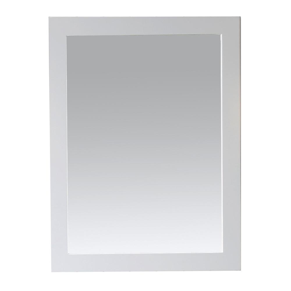 Martha Stewart Living Seal Harbor 24 in. x 32 in. Framed Wall Mirror in White