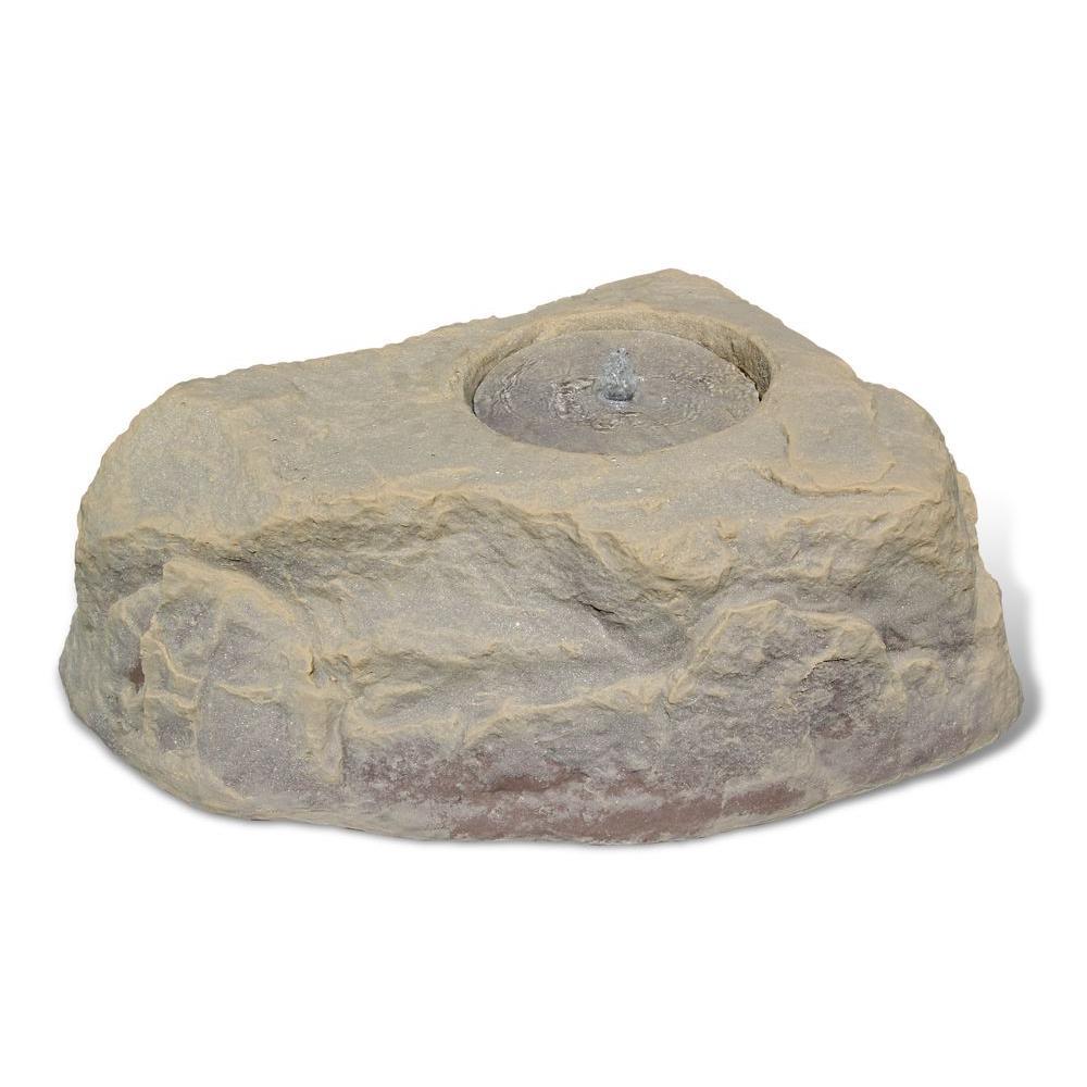 12 in. Small Plastic Tan/Brown Waterfeature Rock