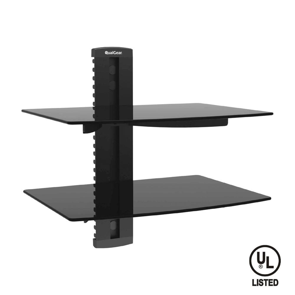 Universal Dual Shelf Wall Mount for A/V Components up to ...
