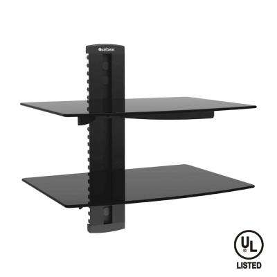 Universal Dual Shelf Wall Mount for A/V Components up to 8kg/17.6 lbs. (x2), Black