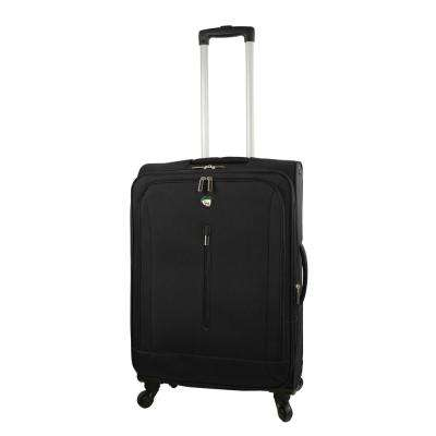 Tena 24 in. Black Soft Side Spinner Suitcase