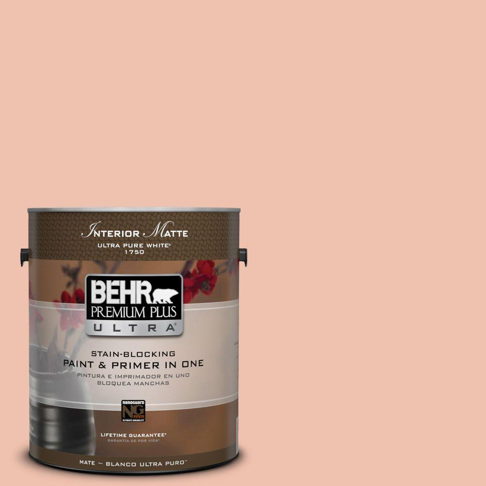 1 gal. #M180-3 Flamingo Feather Matte Interior Paint and Primer in