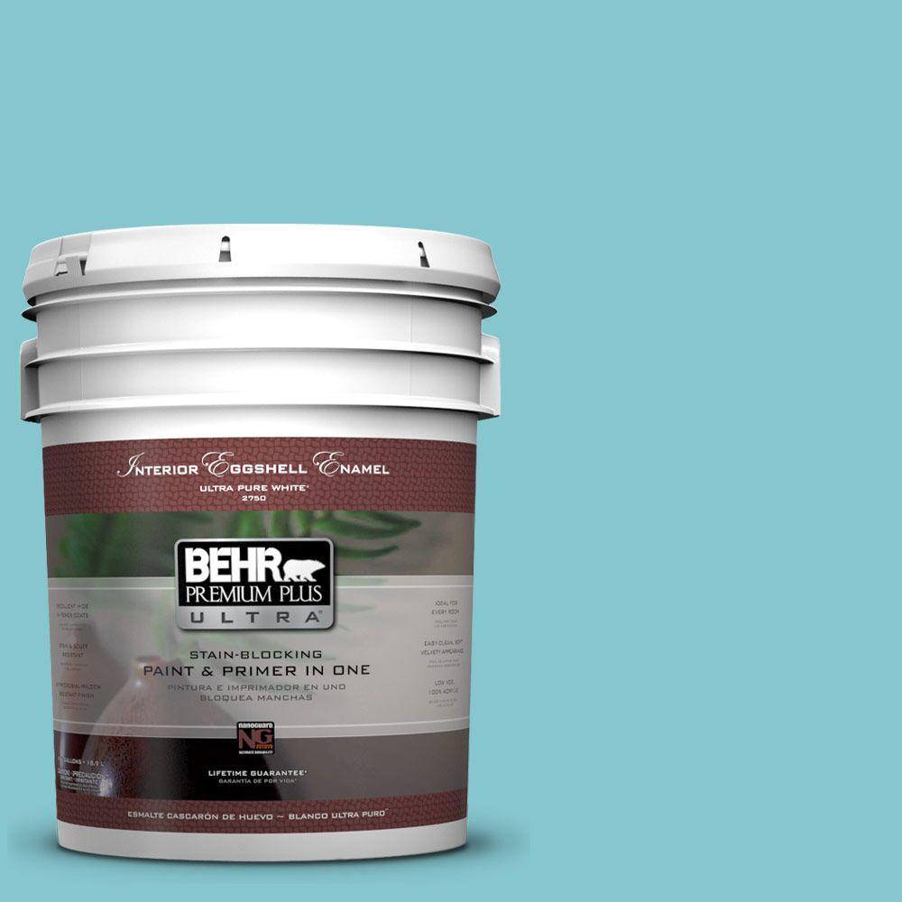 BEHR Premium Plus Ultra 5-gal. #520D-4 Shallow Sea Eggshell Enamel Interior Paint