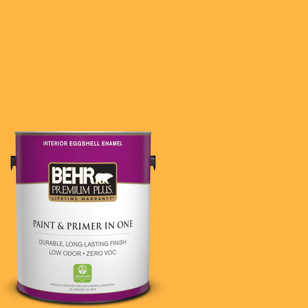 1-gal. #300B-6 Glorious Gold Zero VOC Eggshell Enamel Interior Paint